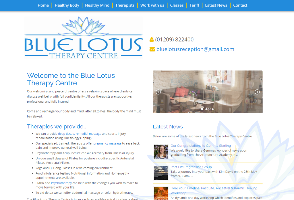 Blue Lotus Therapy Centre Website Design By Heha Web Design
