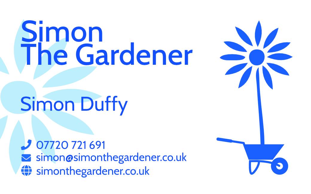 Simon the gardener business card